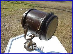 Vintage Carlisle Finch Co Cincinnati Brass Search Spot Light Boat Navy Prison