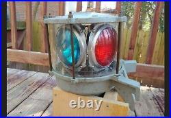 Vintage Carlisle & Finch Nautical Maritime Rotating Ship Beacon Light B6789