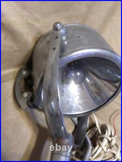 Vintage Chrome Nautical Boat Search Light Lamp The Portable Light Co Company USA