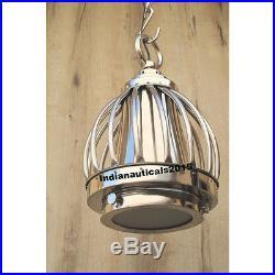 Vintage Chrome Nautical Ceiling Pendant Hanging Light Lamp Home Decor