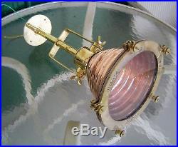 Vintage Copper And Brass Wiska Hanging Pendant Beehive Light