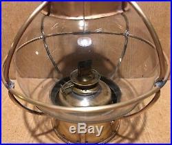 Vintage Copper & Brass Ship Boat Maritime Nautical Onion Oil Lamp Light Burner