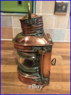Vintage Copper & Brass Ships Masthead Lamp Light Maritime Maritime Nautical