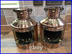 Vintage Copper & Brass Ships Oil Reproduction Nav. Lights Maritime Maritime Boat