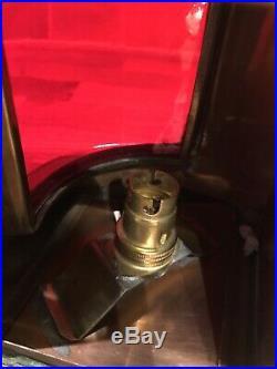 Vintage Copper & Brass Ships Port Lamp Navigation Light Maritime Maritime Boat