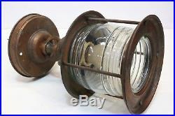 Vintage Copper NAUTICAL CEILING FIXTURE Porch Boat House Maritime Light Lamp
