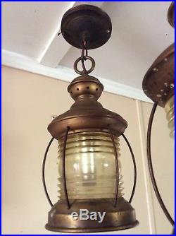 Vintage Copper Nautical Hanging Lantern Porch Light Georgian Art Lighting 1 Of 2