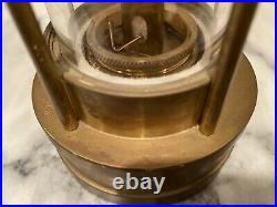 Vintage E. Thomas & Williams Cambrian Brass Miners Lantern Lamp Light Antique
