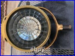 Vintage Gas  Powered Search Light Marine Spotlight Brass poss. Some Copper