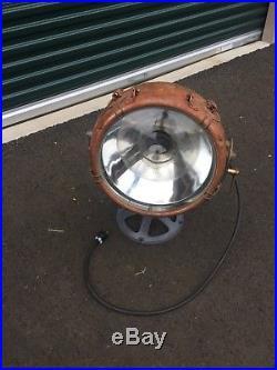 Vintage General Electric GE Novalux Projector Light Nautical Copper Spotlight