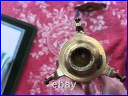 Vintage Gimbal Candle Lamp Brass nautical Ship Light with Globe