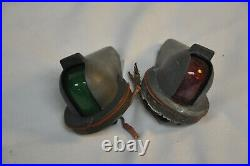 Vintage Heavy Bronze Port/Starboard Nav Lights. Pair