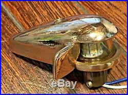 Vintage Heavy Cast Bronze/brass Steaming, Bow Light New Led Wiring/bulb