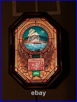 Vintage Heileman's Special Export Motion Beer Sign Lighted Old Style Nautical