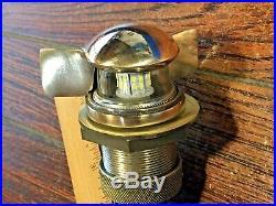Vintage Hinged Bronze Teardrop Bow Light Rewired Led Threaded Glass Lens