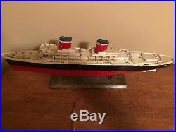 Vintage Ideal Ss United States Lighted Ship Model