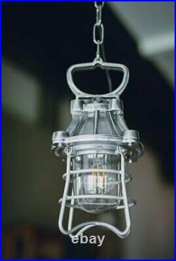 Vintage Industrial Aluminum working Hanging Light