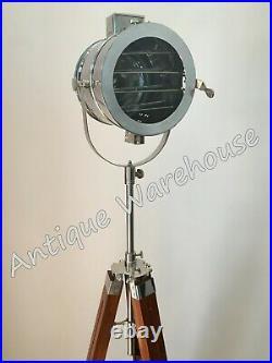 Vintage Industrial Chrome Finish Modern Spot Light Floor Lamp Home Decor Light