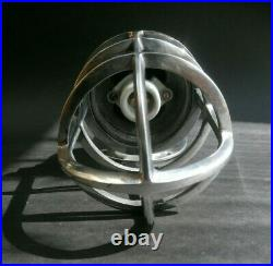 Vintage Industrial Nautical Bulkhead Wall Lights Caged Aluminium Polished Wired