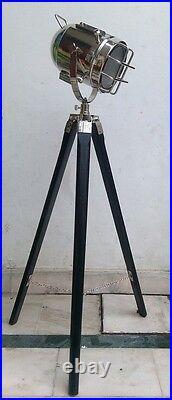 Vintage Industrial Nautical Tripod Modern Spot Light Floor Lamp Home Decor Light