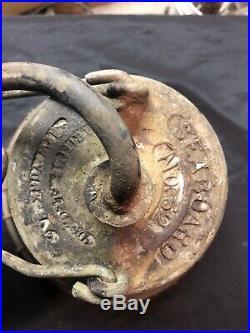 Vintage Industrial Pendant Bell Large Light Chandelier Seaboard No 62 Maritime