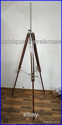 Vintage Industrial Shade Lamp Wooden Tripod Stand Handmade Modern Lamp Tripod