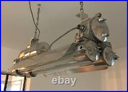 Vintage Korean Daeyang Explosion-Proof Twin Fluorescent Light Maritime Nautical
