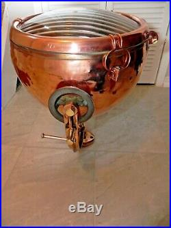 Vintage Large General Electric Copper & Brass Search Light