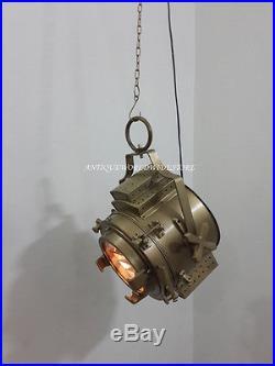 Vintage Large Hanging Pendant Light Kitchen / Nautical / Industrial / Coastal