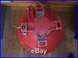 Vintage Large Nautical Marine Navigation Lamp Light Red Ship Dock Marina