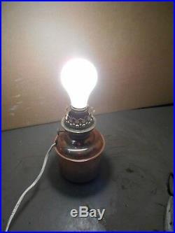 Vintage Large PERKO Marine Ships Lantern/Lamp-RED GLASS-Original w 120 V Light