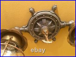 Vintage Lighting 1930s maritime theme ceiling fixture Rewired