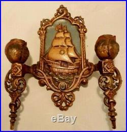 Vintage Lincoln Mfg. Co. Wall Sconce Electric Light Nautical Sailing Ship