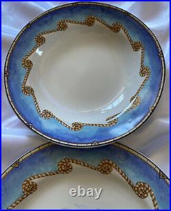 Vintage Lot Of Omnibus Shore Lights Plate Set- 4 Dinner, 4 Soup, 4 Salad Plates