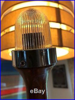 Vintage Mahogony Stern Pole/ Flag Light Chris Craft/ Perko/ Century/ Garwood