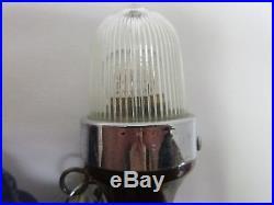 Vintage Mahogony Stern Pole Light with Flag Chris Craft/ Perko/ Century/ Garwood
