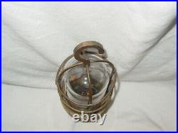 Vintage Marine Brass Trouble Drop Light Wood Handle explosion proof glass cover