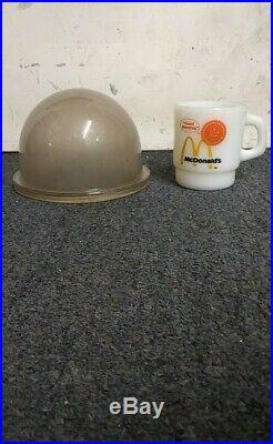 Vintage Marine, Bronze And Glass Dome Ship Light! Nautical Antique