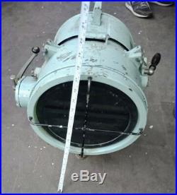 Vintage Marine nautical brass search light S3