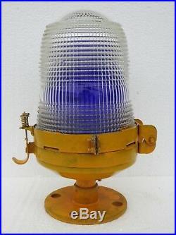 Vintage Maritime Lamp Post Nautical Ship Passageway Lights Electric Nippon Japan