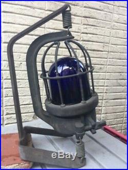 Vintage Maritime Nautical Blue Running Light New Old Stock