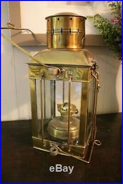 Vintage Maritime Neptune NR Brass Oil Lantern HANGING LIGHT LAMP LIGHTING
