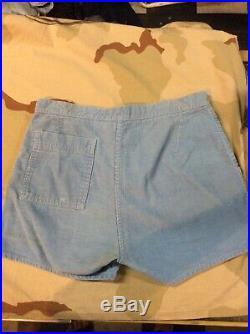 Vintage Mens OP Light Blue Corduroy Shorts Size 30 Surf Skate 70s 80s USA Rare