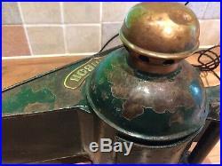 Vintage Metal & Brass Ships Estribor Starboard Lamp Light Maritime Maritime