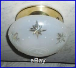 Vintage Mid Century Progress Lighting Flush Mount Nautical Star Light Fixture