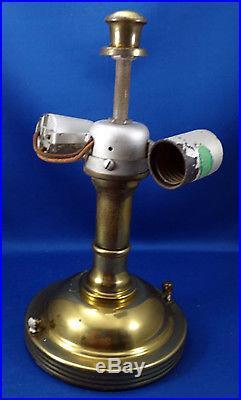 Vintage Mid Century Sailboat Nautical Ceiling Light Fixture Glass Works