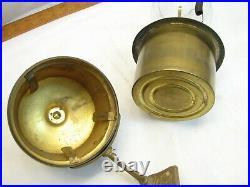 Vintage Miller Brass Oil Fluid Lamp Kero Lantern Light Wall Sconce Ornate Mount