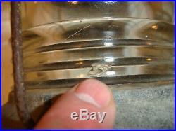 Vintage NAUTICAL MARINE BOAT LIGHT Glass Lenses Navigation Masthead Anchor Perko