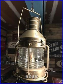 Vintage Nautical Anchor Lamp Nautical Ship Lantern Boat Electric Light 18