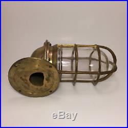 Vintage Nautical Bulkhead Ship Light Made Of Brass Salvage